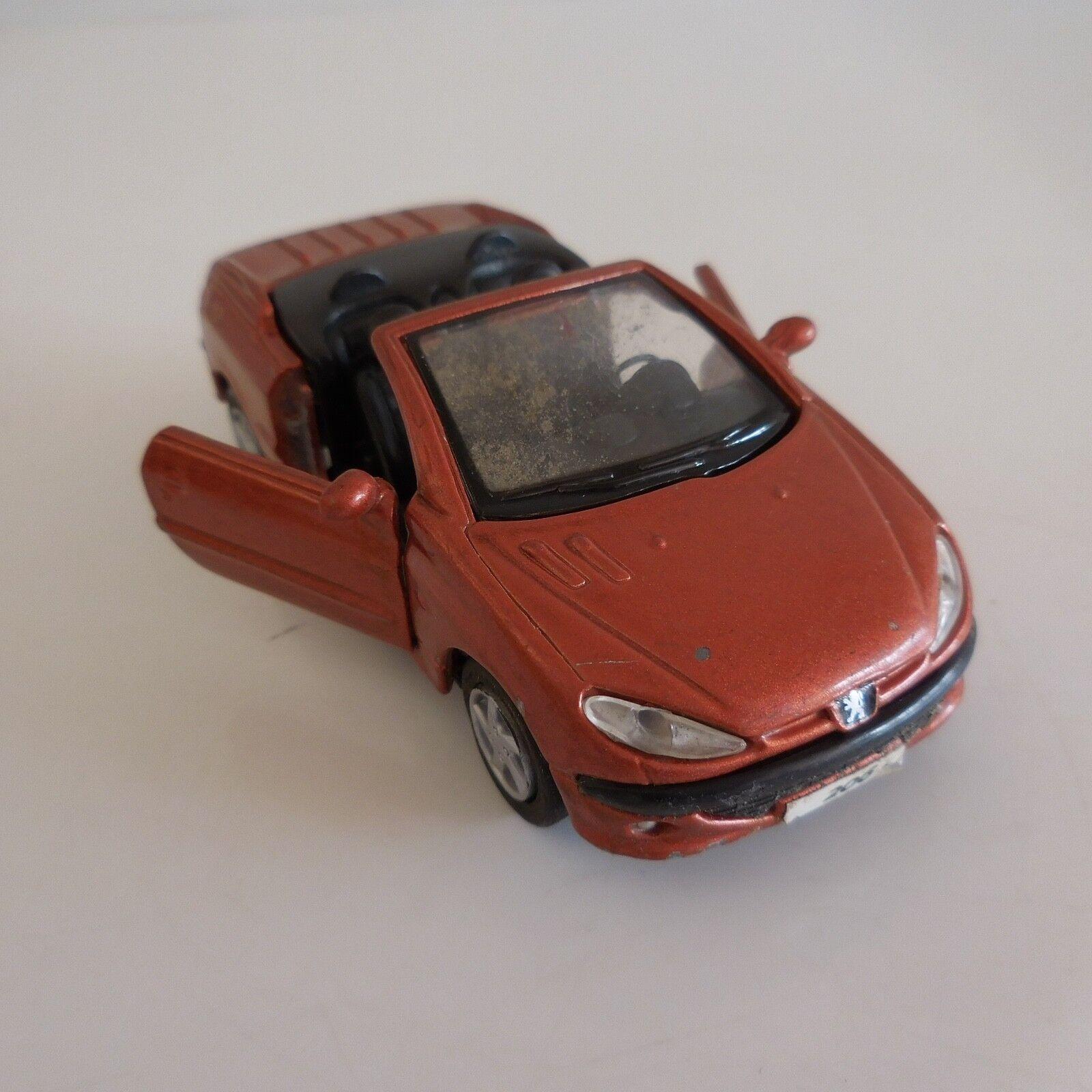 Automobile car voiture miniature convertible cabriolet PEUGEOT 206CC MAISTO