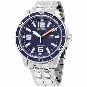 Citizen Eco-Drive Men's Brycen Blue Dial Calendar 44mm Watch AW1520-85L