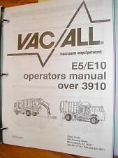 Super-Vac E5/10 STREET CLEANER OPERATION MAINT PARTS SERVICE MANUAL VACUUM LEACH