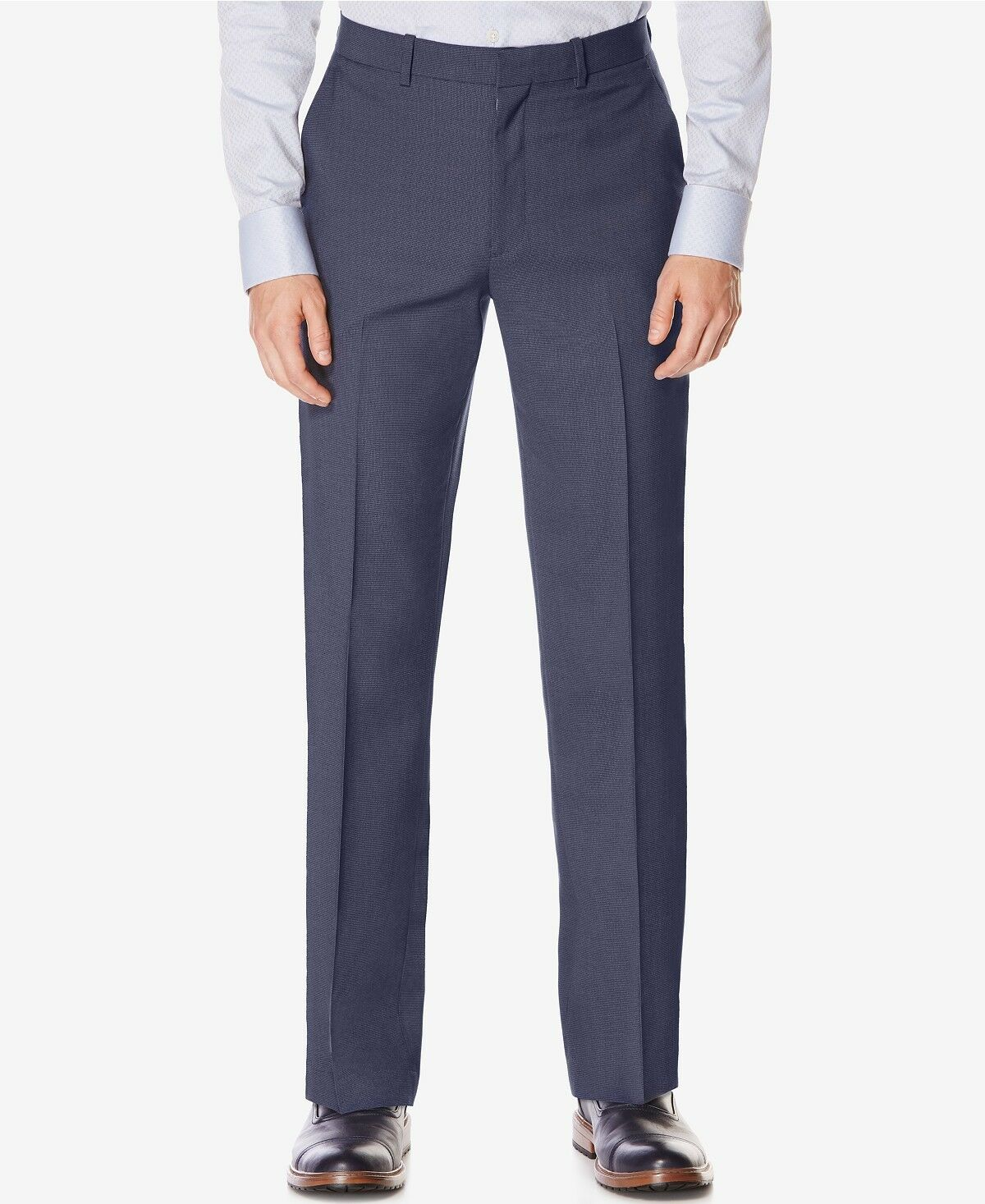PERRY ELLIS PORTFOLIO men blueE FIT FLAT FRONT SUIT DRESS PANTS 34 W 29 L