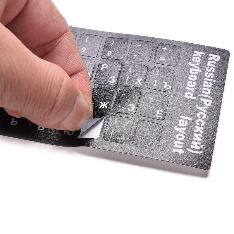 3cb3b27c0df Russian Standard Keyboard Layout Sticker White Letters on Black ...