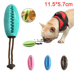 KQ-JW-1X-Pet-Dog-Puppy-Leakage-Food-Rugby-Ball-Suction-Cup-Elastic-Molar-Bite
