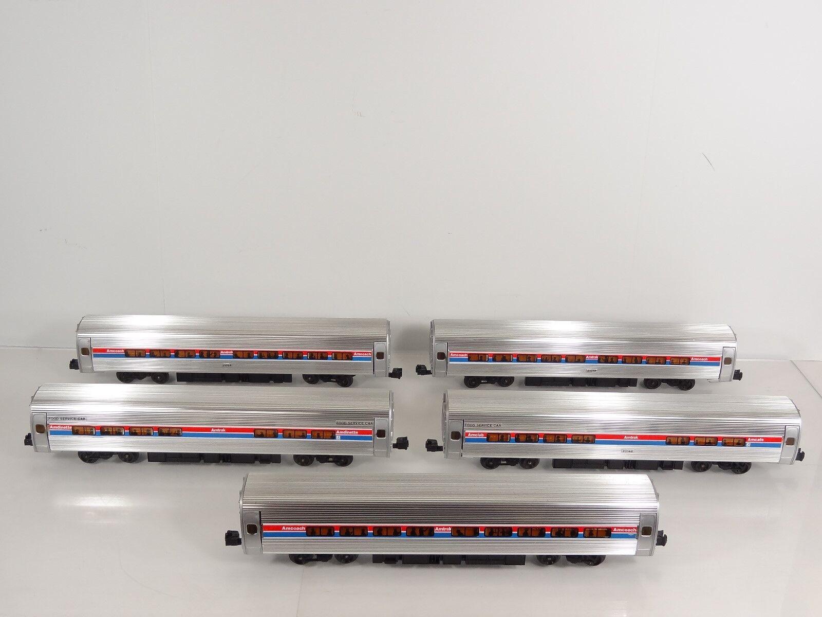 Vintage Elliot Welz O Scale Amtrak Amfleet Metroliner 5 Car Passenger Set