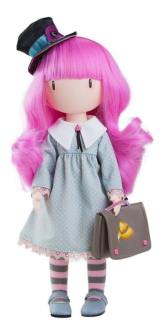 Juego muñeca santoro gorjuss ca 32 cm pelo rosadodo paola Reina 4913