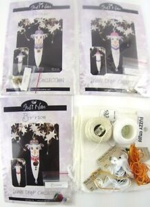 Snow-Drop-Collection-Just-Nan-Lot-of-3-Ornament-Kits-w-Charms-amp-More