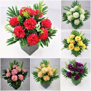 12-bunches-Bulk-Joblot-Artificial-Flower-bouquet-Carnation-bouquet-wedding-home