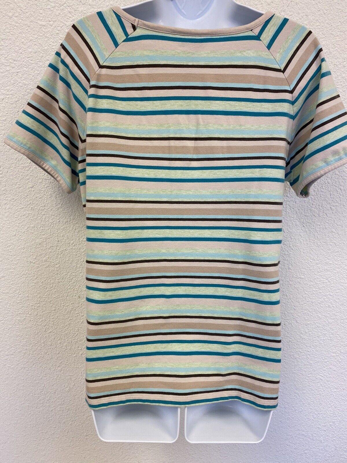 Christopher & Banks Women's Large Striped Short S… - image 4
