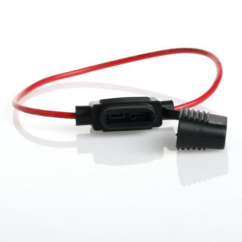 In Line Standard Blade Fuse Holder Splash Proof for 12V 30A Fuses Car Bike 5pcs