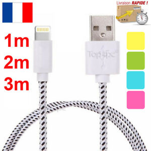 CABLE-CHARGEUR-POUR-IPHONE-6-6S-X-7-8-PLUS-SE-5S-5C-USB-SYNC-RENFORCE-1M-2M-3M