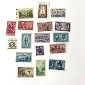 Lot-of-vintage-Commemorative-Stamps-unused