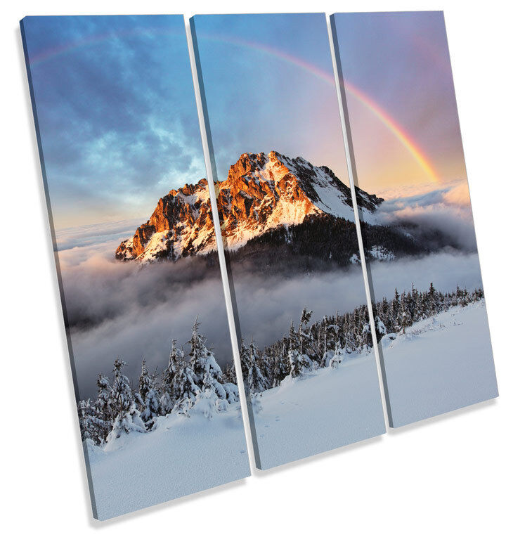 Mountain Fatra Slovakia TREBLE CANVAS WALL ART Square Print Picture