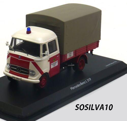 Schuco 1/43 MB L319 Pritsche/Plane-FEUERWEHR Dortmund