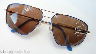 Eschenbach Occhiali Pilota Occhiali Da Sole Metallo Uomo Blu Extra Large Forma Taglia L-mostra Il Titolo Originale