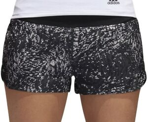 Shorts Black Adidas Supernova Glide Print Womens Running Shorts Women's Clothing