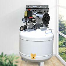 New Listing40l Dental Air Compressor Medical Noiseless Oilless Oil Free Air Pump 115psi Usa