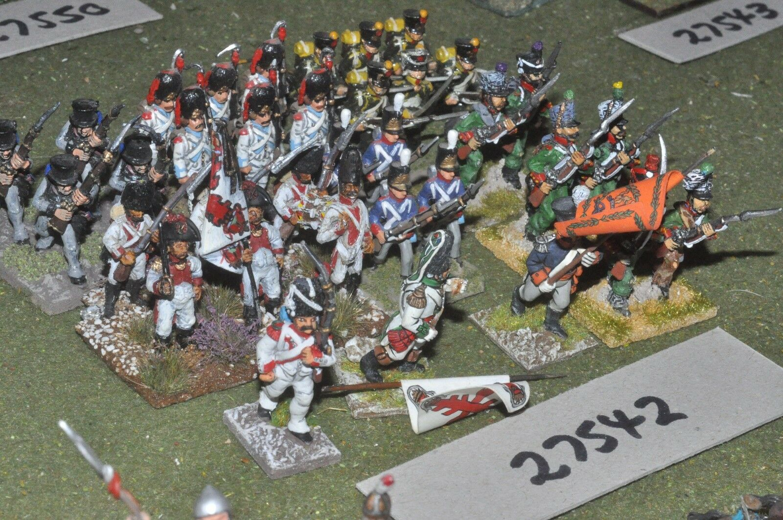 25mm napoleonic   generic - mixed 34 figures - inf (27542)