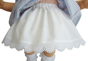 15-034-Doll-Clothes-Made-in-USA-Poufy-Slip-W-Eyelet-Lace-Handmade-for-Bitty-Baby