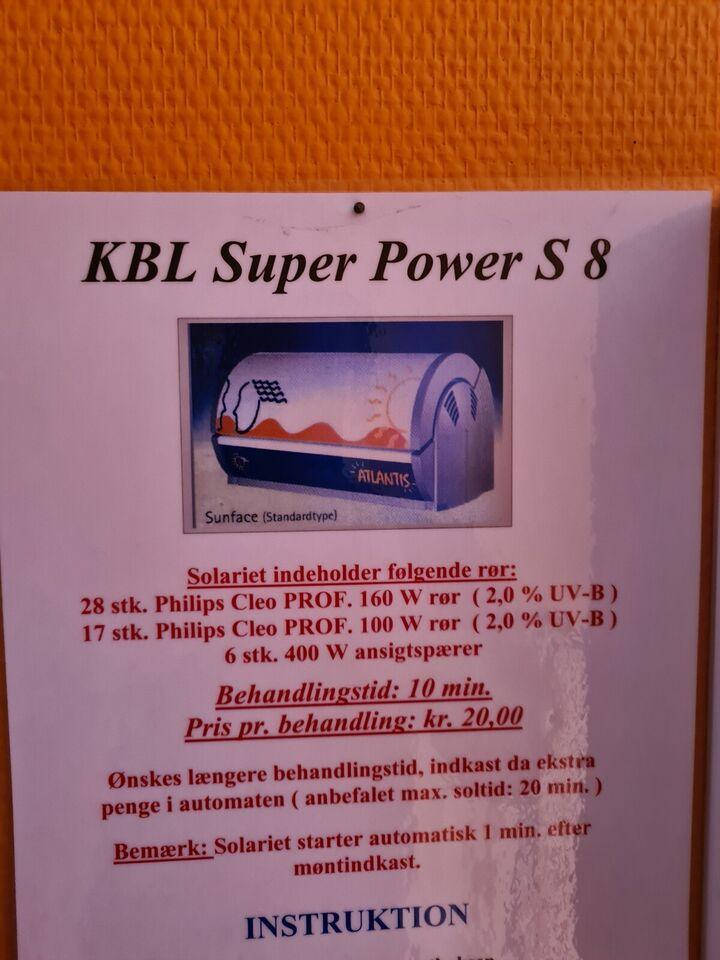 Sandwichsolarium, Kbl super power S 8