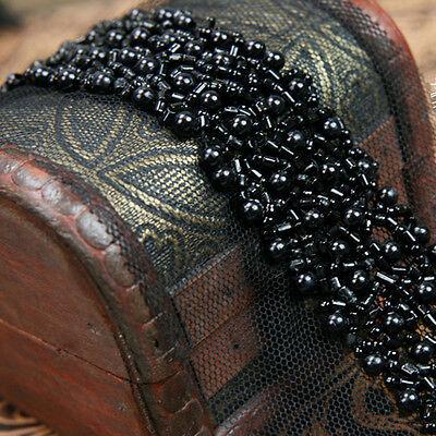 1 X DIY Faux Pearl Beaded Ribbon Trim Strap Sewing Dress Bag Bridal Decor 86cm