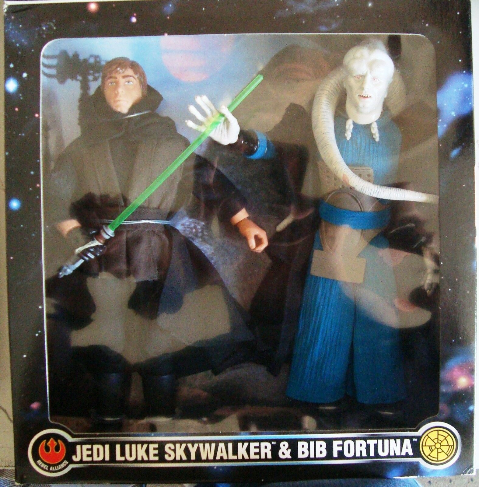 Estrella Wars 1 6 Jedi Luke Skywalker & Bib Fortuna 12  FAO negro muy pocos hecho