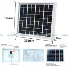 5W 12V Waterproof Solar Panel 5Watt PV Solar Power Outdoor Home Battery Charge
