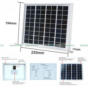Eco 5watt 12volt solar panel 5w solar module for home use battery image is loading eco 5watt 12volt solar panel 5w solar module solutioingenieria Image collections