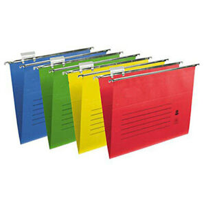 HEAVY-DUTY-FOOLSCAP-SUSPENSION-FILES-WITH-TABS-INSERTS-50-100-PACK-MANY-COLOURS