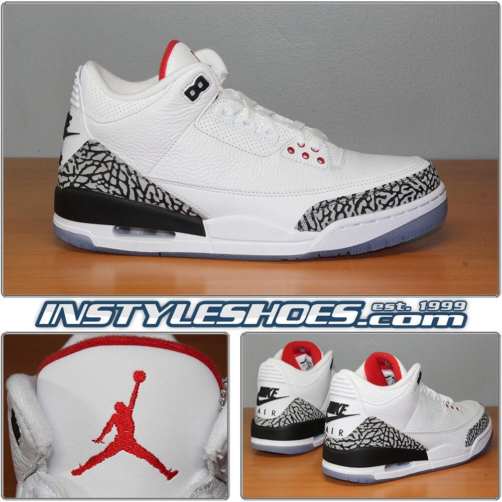 Nike Air Jordan 3 Retro NRG 9.5 DS White Cement Free Throw Line JTH AV6693-160