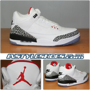 59aa534b67c8 Nike Air Jordan 3 Retro NRG White Cement Free Throw Line JTH AV6693 ...