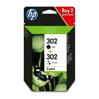 HP 302 Black & Colour Original Combo inks for HP Officejet 3630 3820 3830