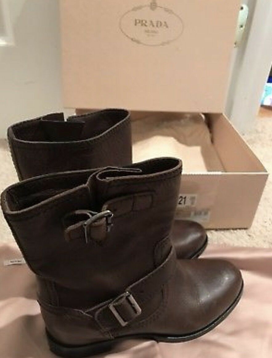 Prada boots $990 Calzature Donna brown boots Prada 37.5 a6325b