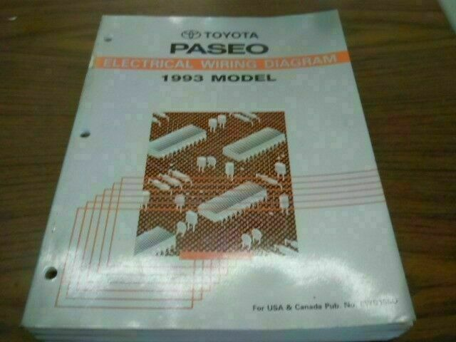 1993 Toyota Paseo Electrical Wiring Diagram Illi Shop