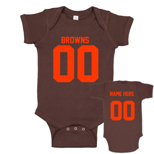 Cleveland Browns Personalized Jersey Baby Shirt Bodysuit