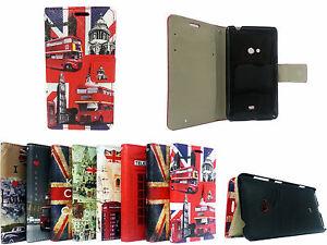 Union-Jack-Big-Ben-In-pelle-portafoglio-Flip-Book-Case-Cover-per-Nokia-Lumia-625-AFFARE