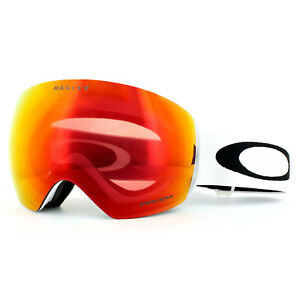 5ca8c28920 Oakley Ski Goggles Flight Deck OO7050-35 Matt White Prizm Torch ...