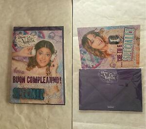 Biglietti Auguri Compleanno Di Violetta.Biglietto Auguri Buon Compleanno Violetta Compleanno Busta Auguri