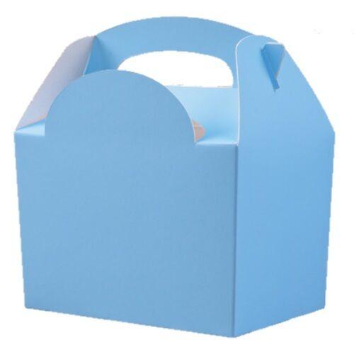 12 light Baby Blue party repas butin boîtes ~ enfants sac de nourriture d/'anniversaire collation boîte