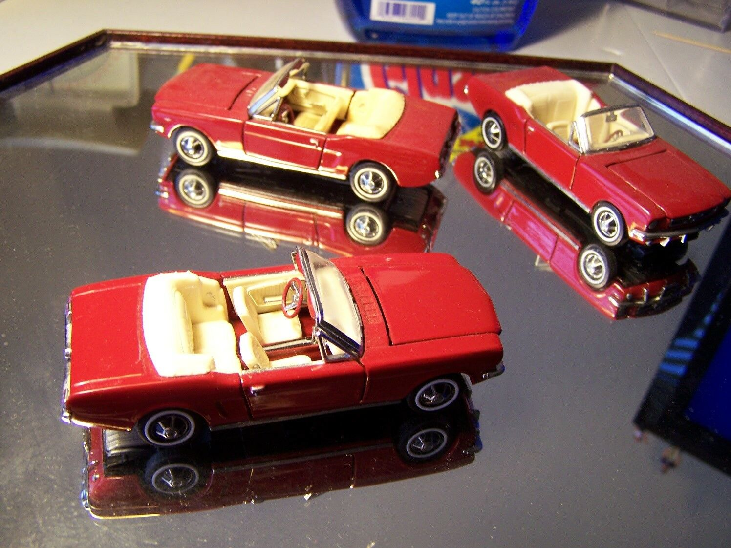 1 LEFT FRANKLIN MINT 1 43 1964 FORD MUSTANG CONgreenIBLE NO PAPERS NO BOX NICE