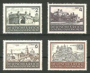 DR-Nazi-3d-Reich-Rare-WW2-Stamp-Castles-Tower-Church-Hitler-Occupation-GG-Poland