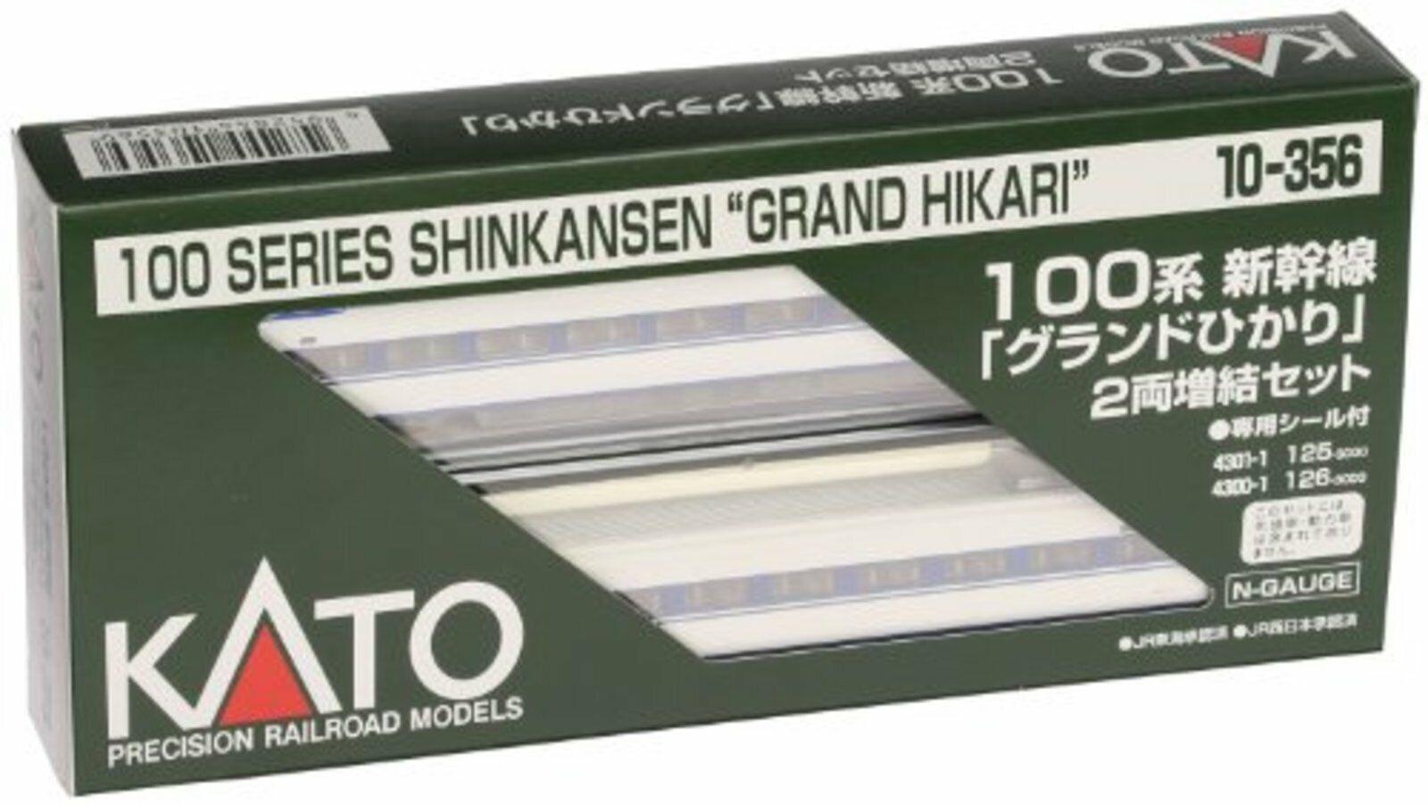 Kato N 10-356 100 Grand Hikari Shinkansen 2 coche agregar aparición F s con seguimiento   Japón