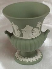 WEDGWOOD JASPER WARE SMALL CAMPANA VASE,VINTAGE ITEM1973,CRISP RELIEF PERFECT!!