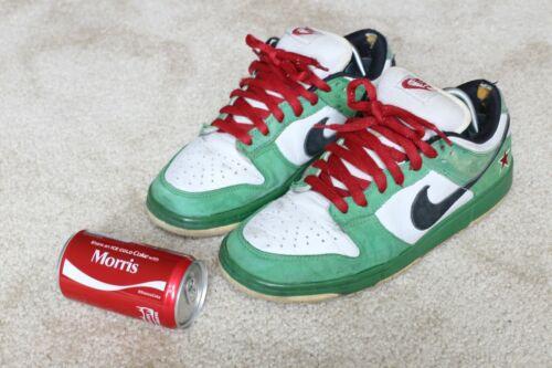 """Nike Dunk SB Low """"Heineken"""" size 9.5 used"""