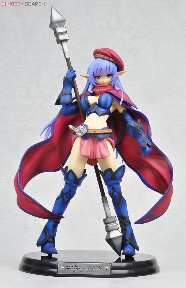 Queens Blade Combat Instructor Allean -Loyal Blau Ver.- PVC Figure