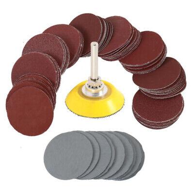 100X 2/'/' 50mm Mixed Sander Sanding Discs 80-3000 Grit Pads Hook /& Loop Sandpaper