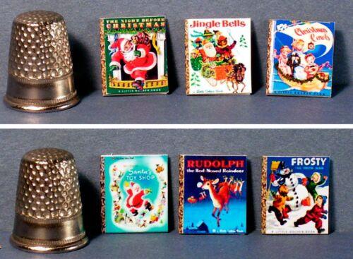 Dollhouse Miniature 1:12 Set of 6 Little Golden Books  Classic Christmas Covers