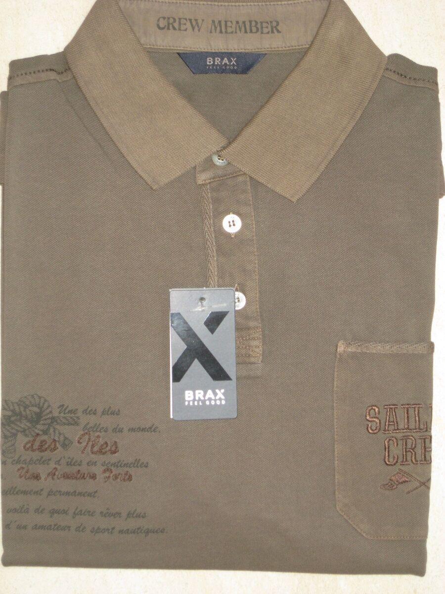 BRAX Polo Shirt kurzarm oliv  NEU