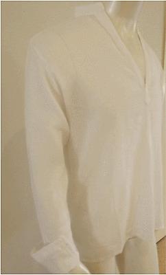 Beach wear NWT-V-shape,Beige cheese cloth,l/s Kurta size 4XL