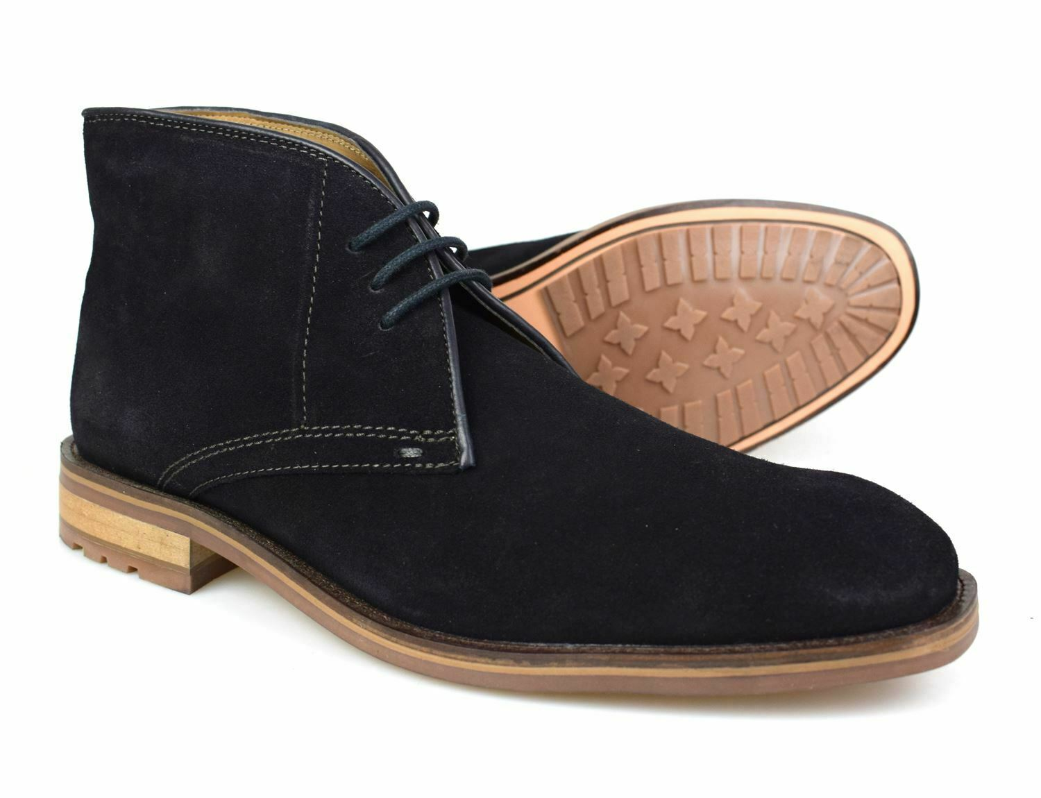 Catesby Midnight Navy Suede Desert Boots 111D Free UK P&P!