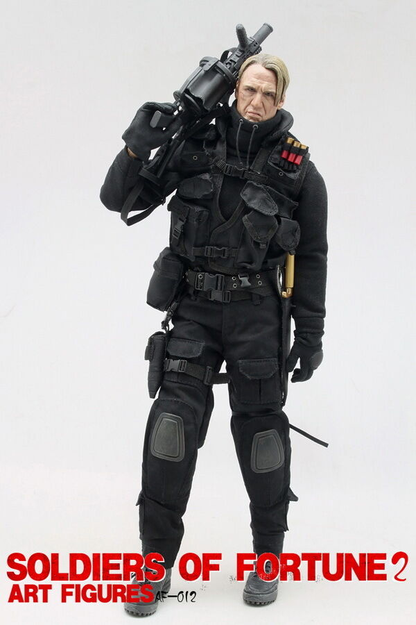 1/6 Art Figures Soldiers of of of Fortune 2 AF-012 The Expendables Gunner Figure NEW 84f896