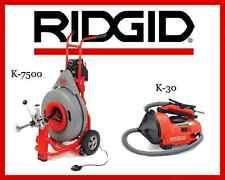 Ridgid Auto-Clean K-30 Sink Machine (34963) & Ridgid K-7500 Drum Machine (60052)
